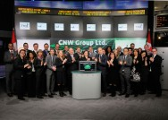 CNW GROUP LTD. - CNW and Toronto Stock Exchange open the market