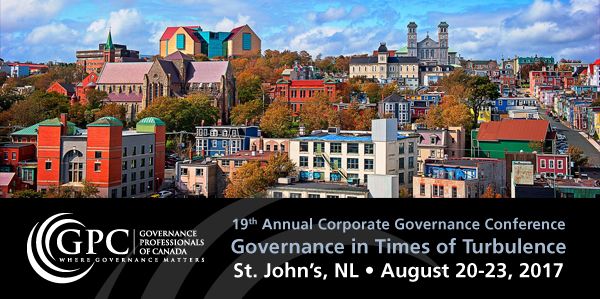 19th Annual Corporate Governance Conference in St. John's, NL.